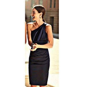⬇️$120 David's Bridal Satin One Shoulder Dress